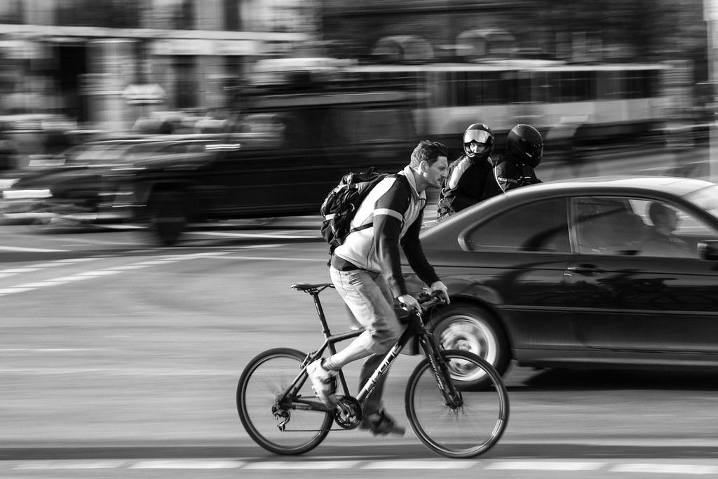 Biker in Berlin.