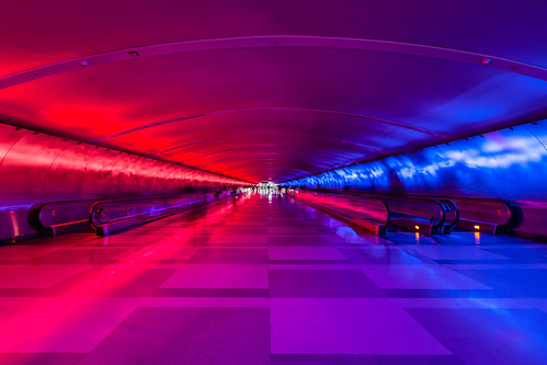 DTW Light Tunnel by kenfagerdotcom