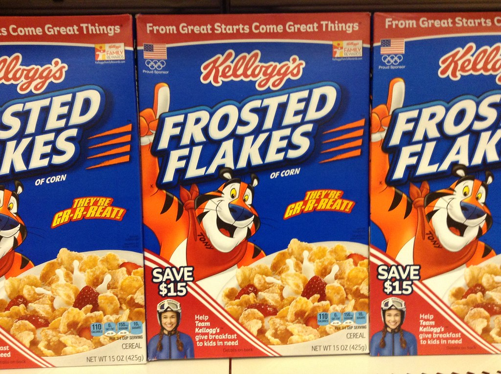 Frosted Flakes  Cereals ready-to-eat, KELLOGG'S, Reduced Sugar Frosted Flakes Cereal
