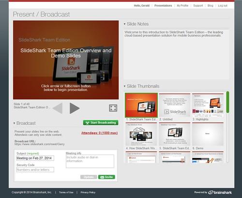 SlideShark Anywhere_presenter view screen