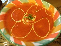 vegetable(0.0), calabaza(0.0), produce(0.0), cucurbita(0.0), tomato soup(1.0), bisque(1.0), food(1.0), dish(1.0), soup(1.0), cuisine(1.0),