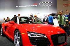 automobile, automotive exterior, exhibition, wheel, vehicle, performance car, automotive design, auto show, audi r8, concept car, land vehicle, supercar, sports car,