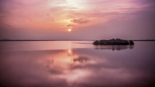 longexposure sunset sun lake landscape island twilight cloudy reservoir le dongpu hefei ilobsterit