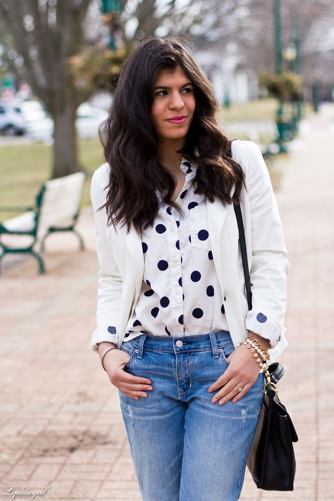polka dot shirt, white blazer, boyfriend denim-3.jpg