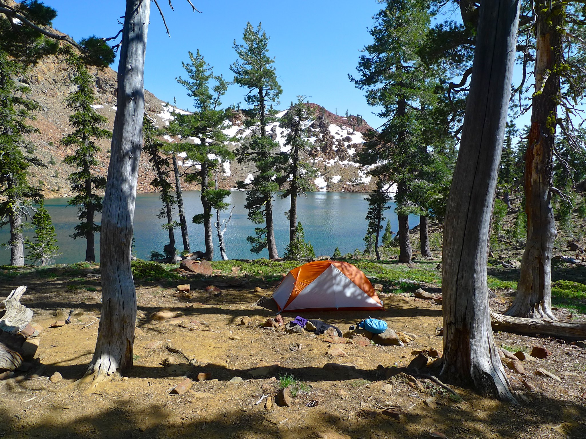 Camp at Summit Lake. I had the lake entirely to myself. Actually, I had the whole loop to myself. After seeing a couple at the trailhead headed up like me, I passed a few parties leaving on the trail and then never saw another soul the whole trip.