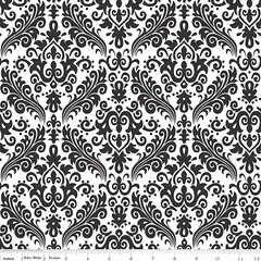 Riley Blake Hollywood Medium Damask Black C820-110