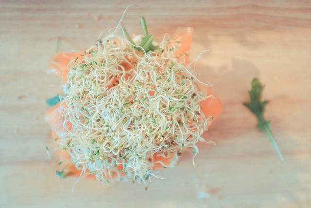 bagel aux graines germées bio