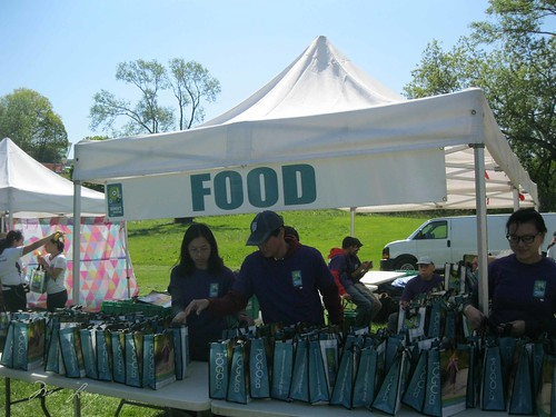 The food bag table.