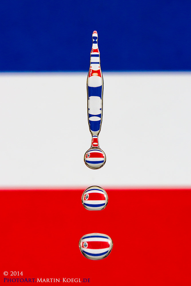 World Cup Drop Art Series: No. 4 - Costa Rica