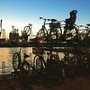 Fiets at sunset
