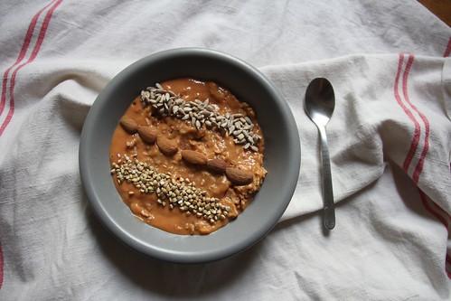Porridge cru façon smoothie