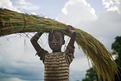Zambian little boy after fishing, Limulunga, Barotseland, Zambia