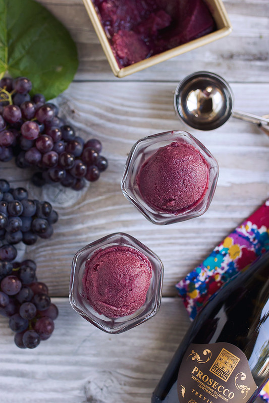 Fresh Grape and Prosecco Sorbet