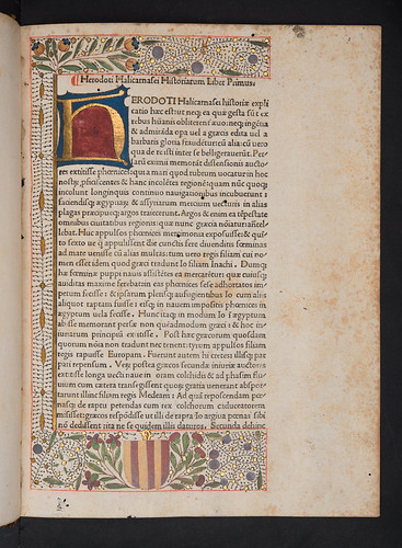 Illuminated border in Herodotus: Historiae