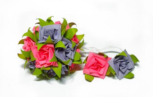 Kusudama Roses by Shigeru Yamazaki