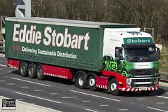 Volvo FH 6x2 Tractor - PX10 DAA - Natalie Lauren - Eddie Stobart - M1 J10 Luton - Steven Gray - IMG_7611