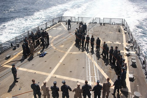 USS Gridley, At Sea – One hundred and ten Naval Reserve Officer Training Corps (NROTC) Midshipmen from various colleges around the nation embarked USS Gridley (DDG 101), to experience Surface Navy life as part of their midshipmen summer training cruise.