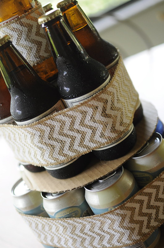 beer cake gift; unique gifts for him; beer drinker gift ideas
