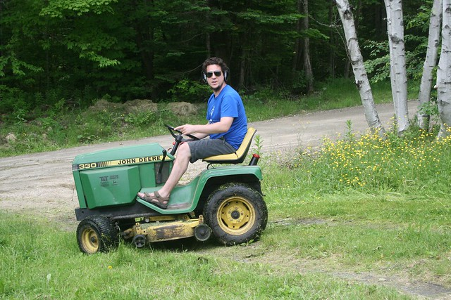 Jonathan on the Mower