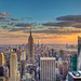 New York Skyline Sunset by Basic Elements Photography