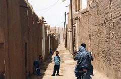 Iran - rue d'un village, désert Dasht-e-Kavir