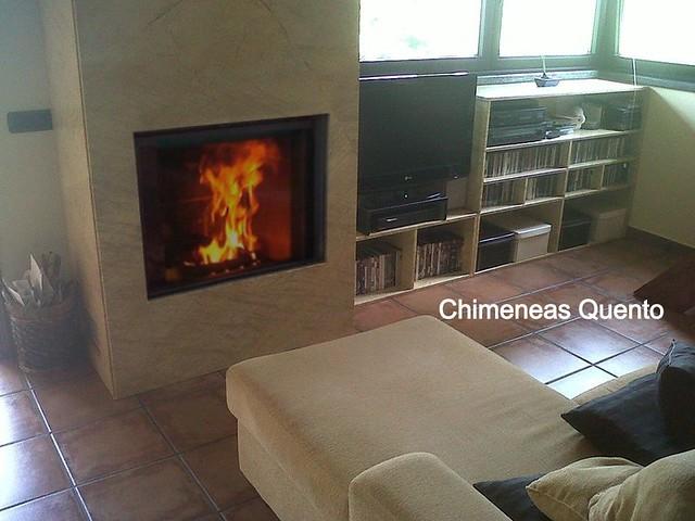 Chimenea quento modelo montero con stuv 21 85 flickr photo sharing - Chimeneas lugo ...