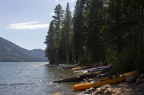 california lake mountains nature water rock landscape kayak shore motorboat conifer sierranevadarange independencelake