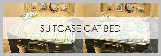 DIY Suitcase Cat Bed