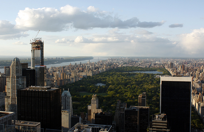 View of Central Park from Rockefeller Center