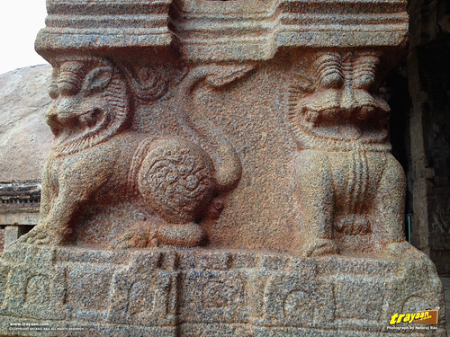 Fine Scupltures in Veerabhadra Swamy Temple at Lepakshi, in Andhra Pradesh, near Andhra - Karnataka border, India