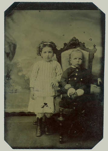 Tintype: Two Children