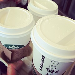 Wakie #wakie Rainy day here in Athens #hazelnut #starbucks #coffee #venti
