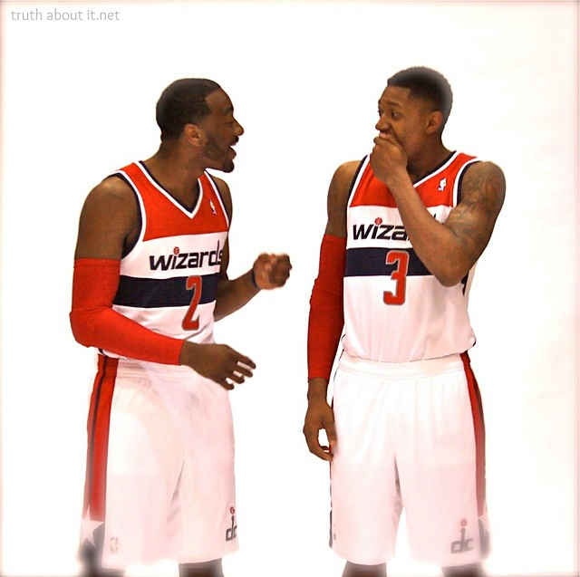 John Wall and Bradley Beal - Wizards Media Day 2013