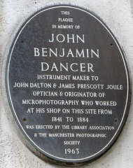 Photo of John Benjamin Dancer slate plaque