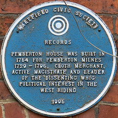 Photo of Pemberton Milnes blue plaque