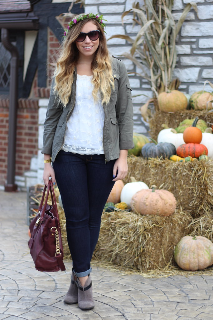 Living After Midnite: Fall Florals in mark., Gap, Michael Kors & Sole Society