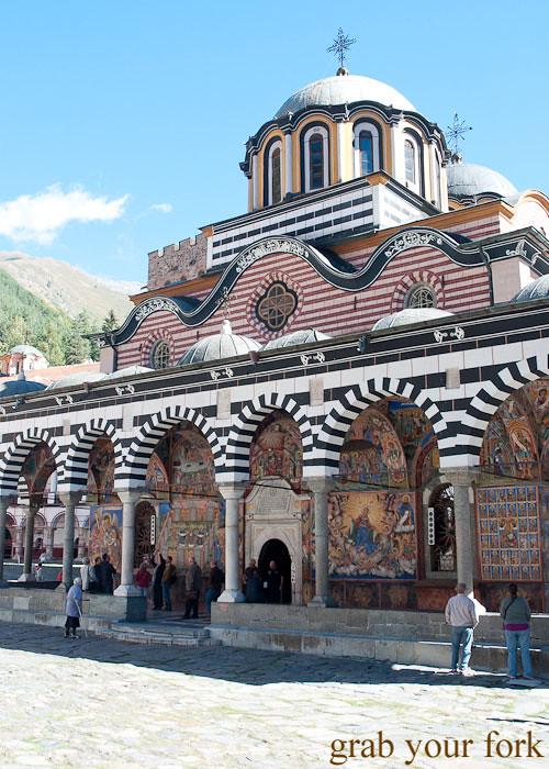 frescoes fresco rila monastery bulgaria