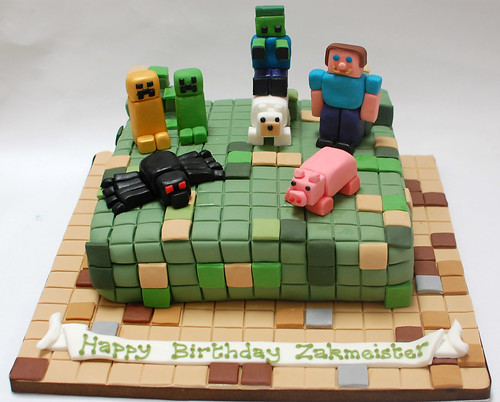 Superb Minecraft Cake Beautiful Birthday Cakes Funny Birthday Cards Online Fluifree Goldxyz