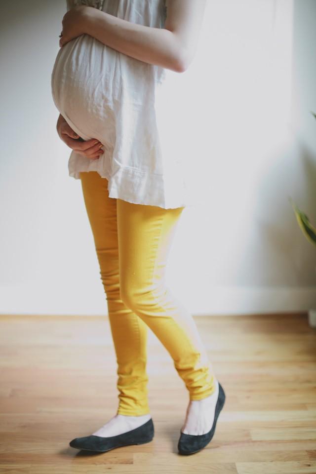 wearing mustard