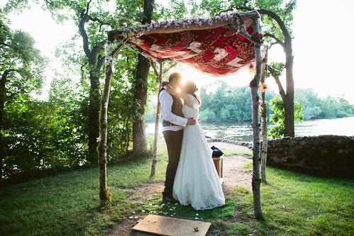 Under the Chuppah at Sunset
