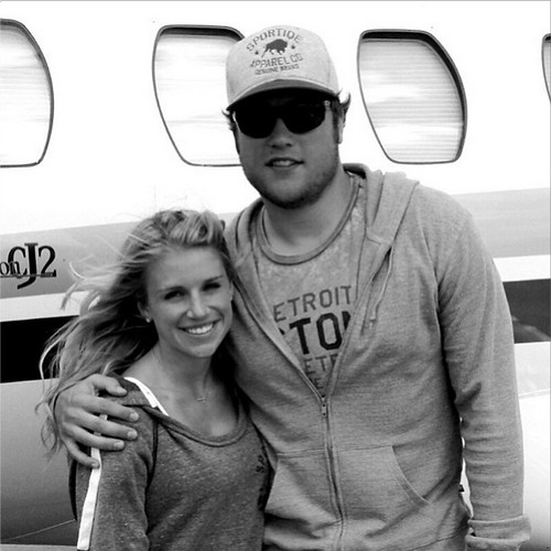 Matthew Stafford In Sportiqe Detroit Pistons Apparel