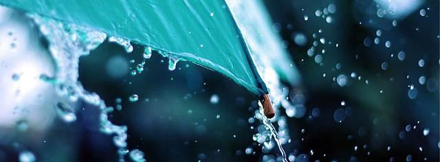 Umbrella In Rain Facebook Cover Photo
