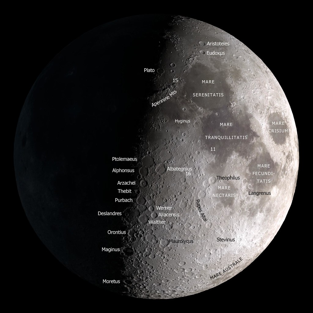 Moon Map by NASA » Ciel Bleu Media