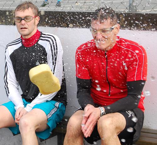Mr B and Mr W get a soaking