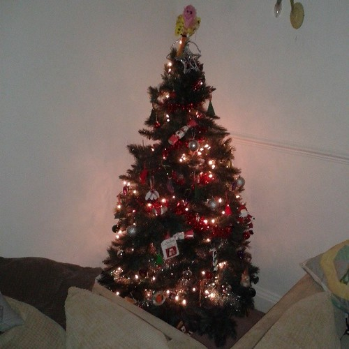 The Christmas Tree is up, i don't think those chocolates will last long though!