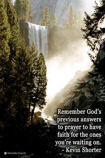Remember God previous answers prayers faith waiting