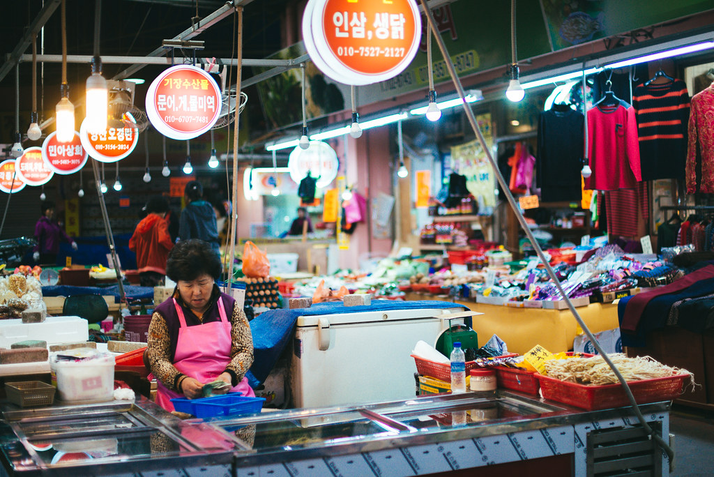 Night food market
