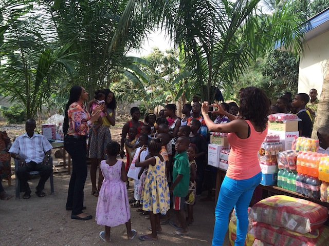 Miss Ghana 2013 spends Christmas day at Orphanage