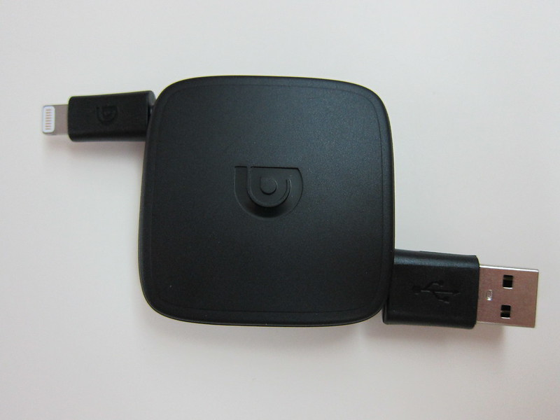 Griffin Retractable Lightning Cable - Top View
