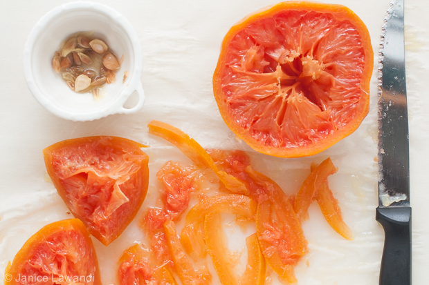preparing grapefruit for marmalade | kitchen heals soul